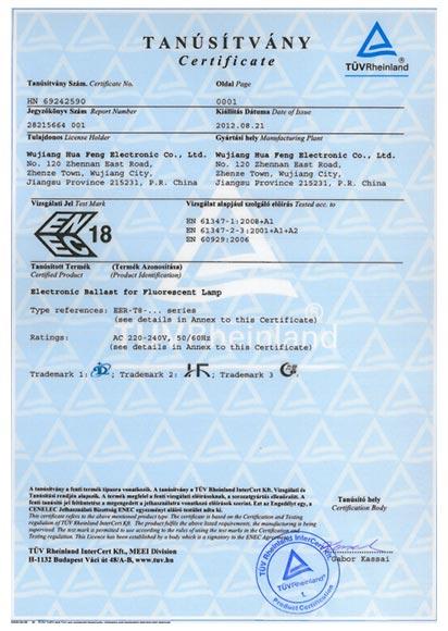 T8-ENEC Certificate