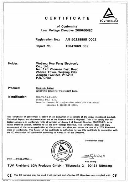 T8 418 Certificate