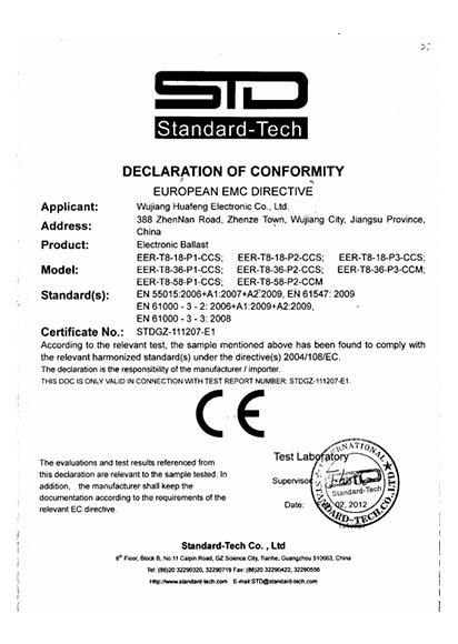 T8 CE Certificate